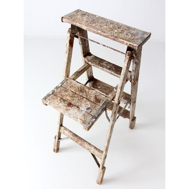 Vintage Rustic Wooden Painter's Ladder - Image 9 of 11