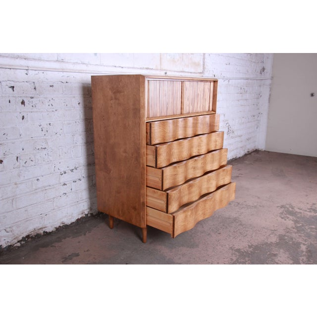 Edmond Spence Wave Front Highboy Dresser For Sale In South Bend - Image 6 of 13