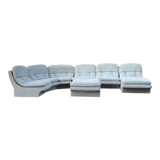 Vladimir Kagan for Preview 7 Piece Modular Sectional For Sale