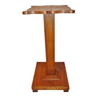 Antique Arts and Craft/Mission Oak Pedestal Plant Stand For Sale