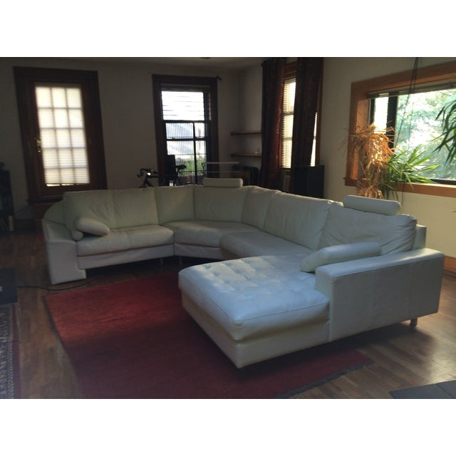 Denelli Italia White Modular Sofa - Image 4 of 6