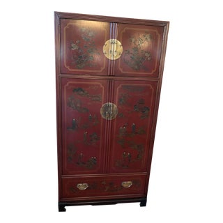 Drexel Heritage Mai Ting Asian Chinoiserie Style Armoire For Sale