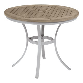 "36"" Round Café Outdoor Bistro Table, Vintage For Sale"