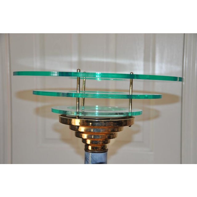Designer 1990s Mid-Century Modern Acrylic Torchiere Floor Lamp For Sale In San Francisco - Image 6 of 10