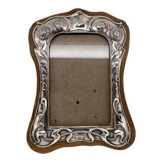 Art Nouveau Birmingham English Sterling Picture Frame For Sale