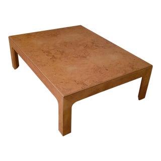 Mid-Century Modern Henredon Burl Wood Coffee Table For Sale
