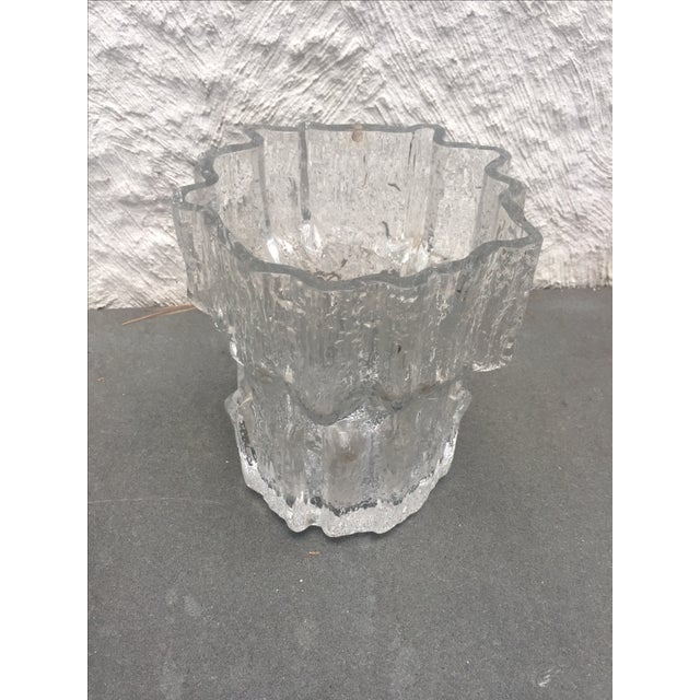 Danish Modern Tapio Wirkkala for Iittala Gerania Glass Vase For Sale - Image 3 of 5