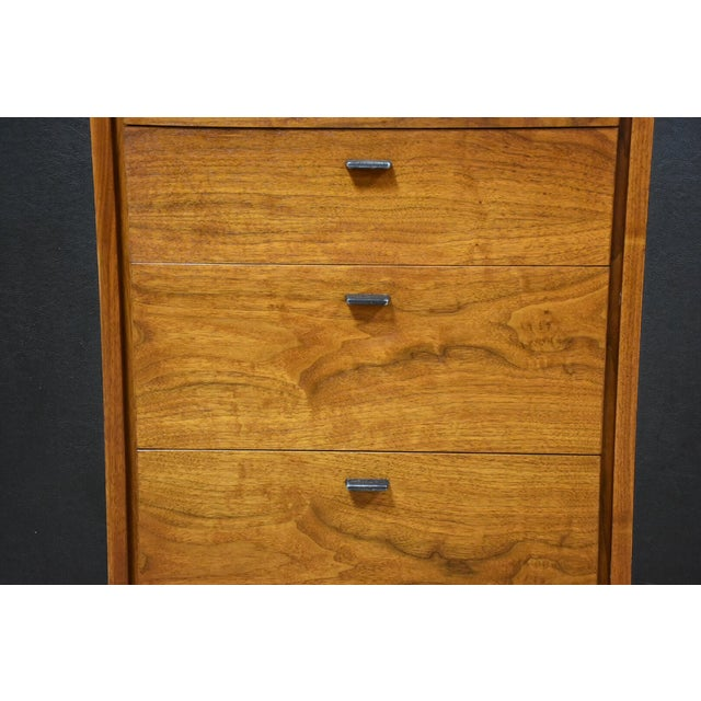 Walnut and Black Vinyl Armoire Dresser - Image 5 of 11