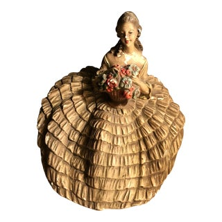 Antique Female Floral Victorian Sculpture