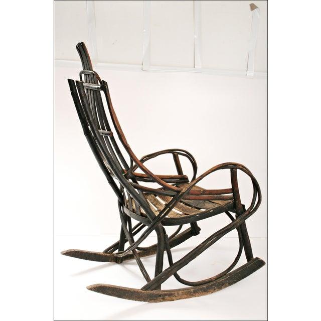 Vintage Adirondack Twig Wood Rocker - Image 10 of 11