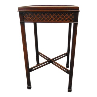 Hekman Chippendale Style Mahogany Stand For Sale