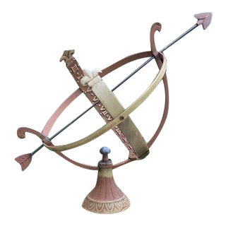 Marble and Brass Armillary For Sale