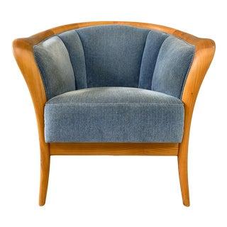 Danish Mid-Century Birch Armchair For Sale