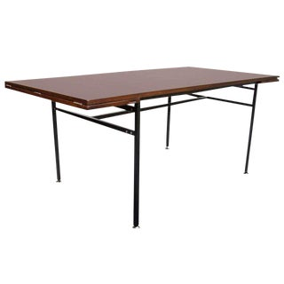 Rosewood & Steel Extension Table For Sale