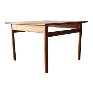 Haug Snekkeri Norwegian Teak Square Side Table For Sale