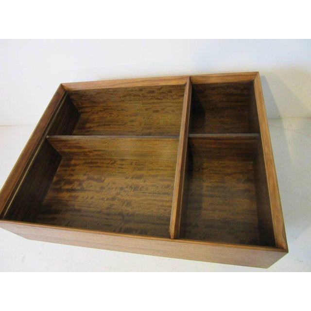 Brown Early Milo Baughman Coffee Table in Exotic Mindoro Wood for Drexel For Sale - Image 8 of 9