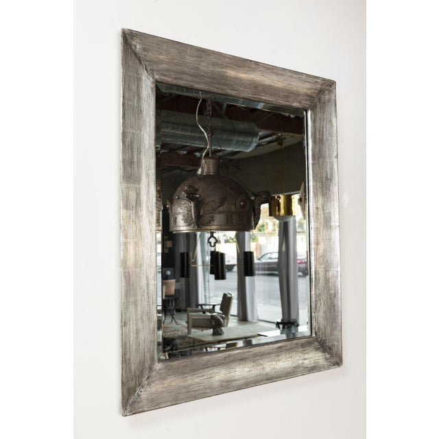 Paul Marra Distressed Silvered Frame Mirror For Sale In Los Angeles - Image 6 of 7