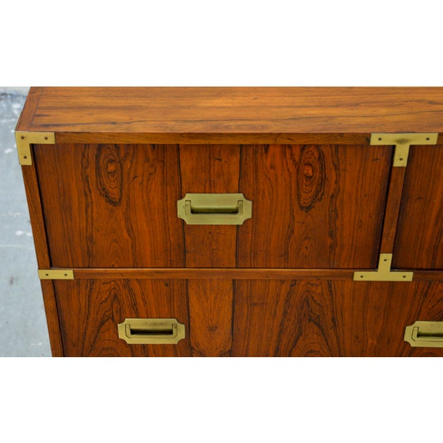 Walnut Baker Chests of Drawers - a Pair For Sale - Image 11 of 12