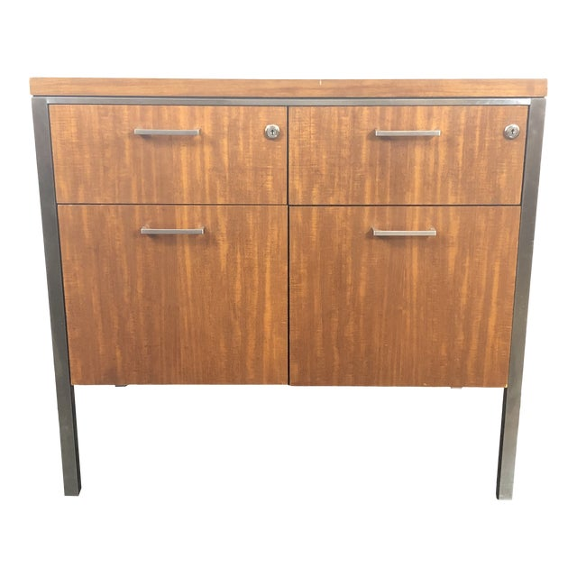 1960s Mid Century Modern Walnut File Drawers by the General Fireproofing Co For Sale