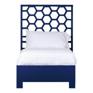 Honeycomb Bed Twin - Navy Blue For Sale
