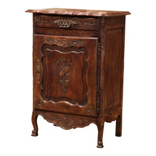 Early 20th Century French Louis XV Carved Oak Jelly Cabinet From Normandy For Sale