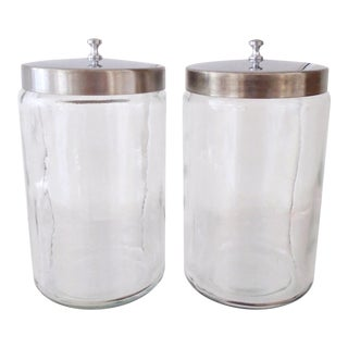 Vintage Medical Apothecary Jars - Set of 2 For Sale