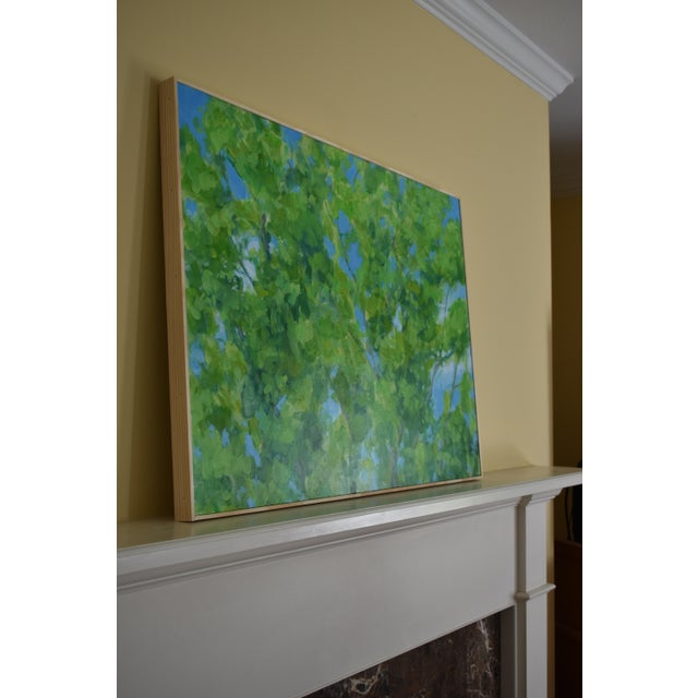 """2010s Contemporary Painting, """"Treetops Painting"""" by Stephen Remick For Sale - Image 10 of 12"""
