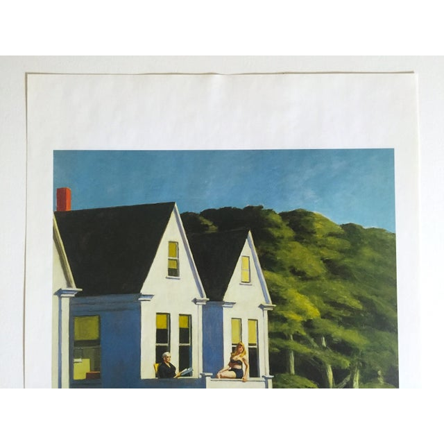"This Edward Hopper vintage 1999 offset lithograph calendar print "" Second Story Sunlight "" 1960, is a very special and..."