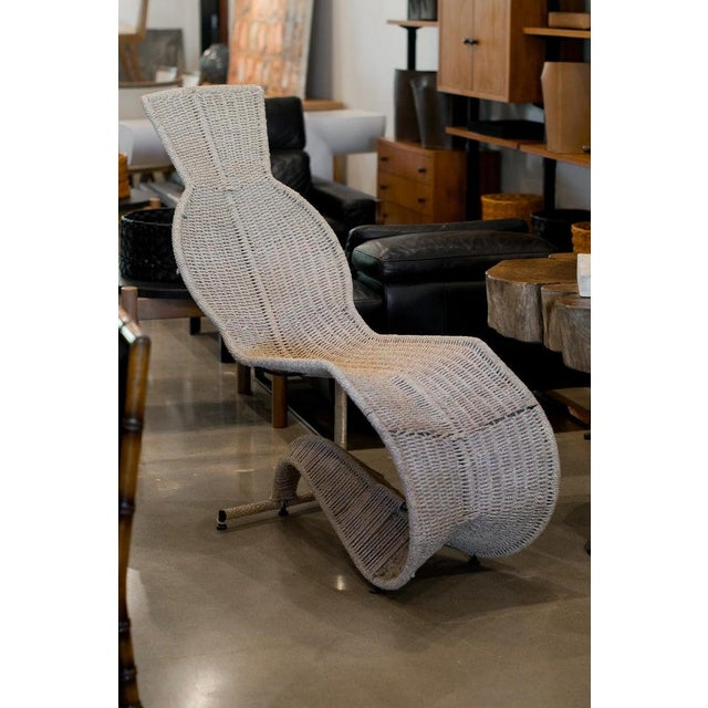 Modern Dixon Bolide Wicker Chaise, London, 1991 For Sale - Image 3 of 7