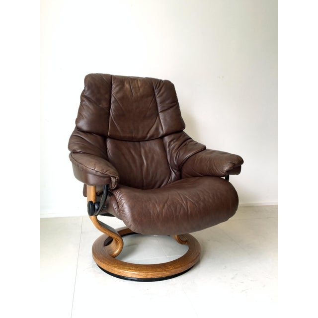 Vintage Ekornes Stressless Lounge Chair For Sale In Milwaukee - Image 6 of 6