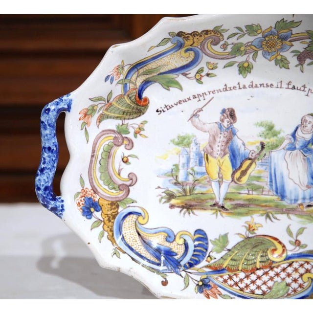 19th Century Hand Painted Oval Platter For Sale - Image 4 of 8