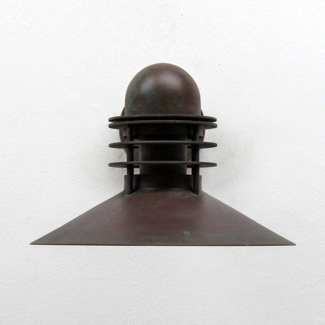 Louis Poulsen Louis Poulsen Copper Outdoor Lamp, 1970 For Sale - Image 4 of 9
