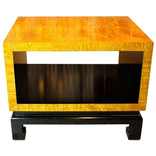 20th Century Japanese Cube Form End Table For Sale