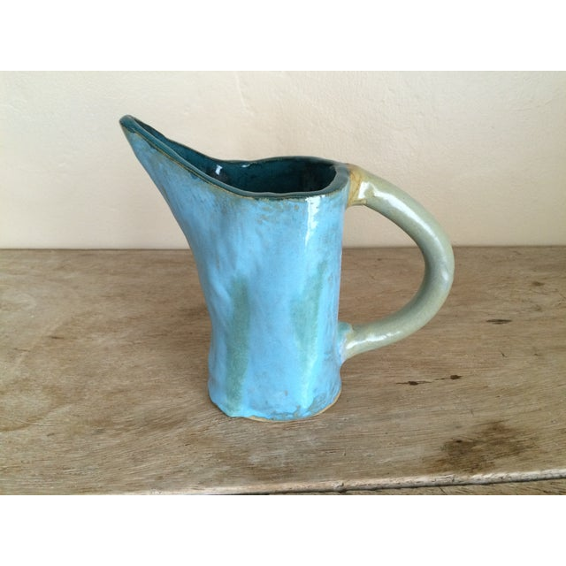 Hand-Painted Pottery Pitcher - Image 2 of 5