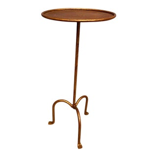 Spanish Gilt Iron Martini Side Table For Sale