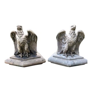 A Pair of C. 1990 Terracotta Eagles For Sale