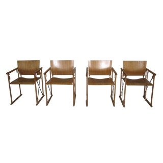 Early 20th Century Vintage Set of Bamboo Chairs- Set of 4 For Sale