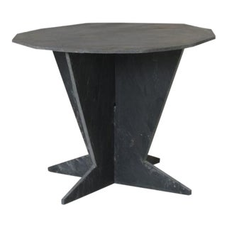 Mid-Century French Slate Center Table From Trelaze For Sale