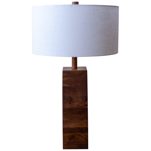Brown Jane and Gordon Martz Wood Lamp For Sale - Image 8 of 8