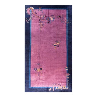 """Antique Art Deco Chinese Rug 9'9"""" X 18'8"""" For Sale"""
