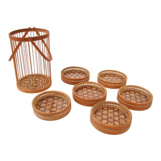 Bamboo Coasters & Carrier - Set of 6