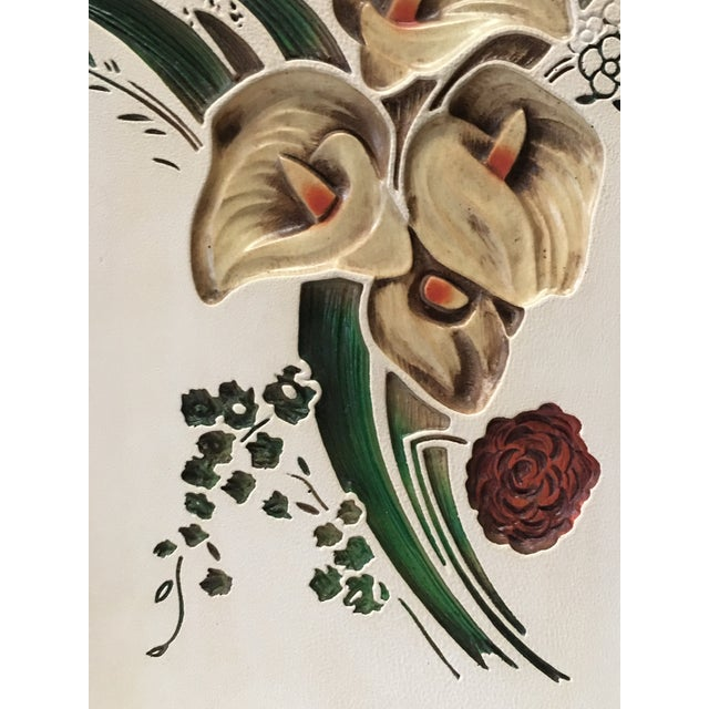 Mid 20th Century Mid Century Chalkware Botanic Plaques - a Pair For Sale - Image 5 of 12