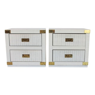 Hollywood Regency Nightstands - a Pair For Sale