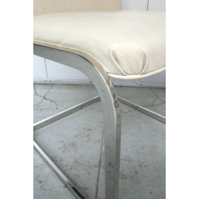 Silver Set of Four Cantilever Chairs by Brueton For Sale - Image 8 of 8