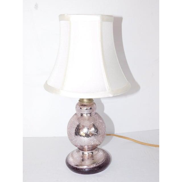 Vintage Pink Mercury Glass Boudoir Lamp - Image 5 of 5