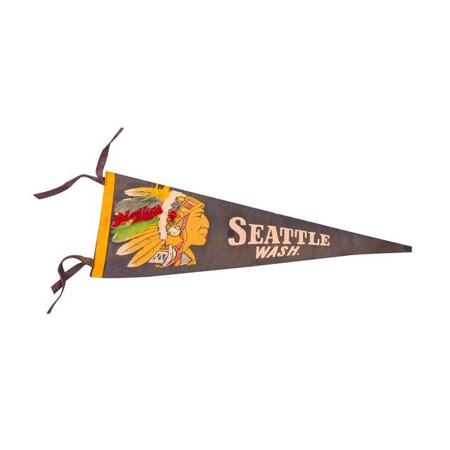 Seattle Washington Felt Flag - Image 1 of 3