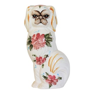 Hand Painted Ceramic Pug For Sale