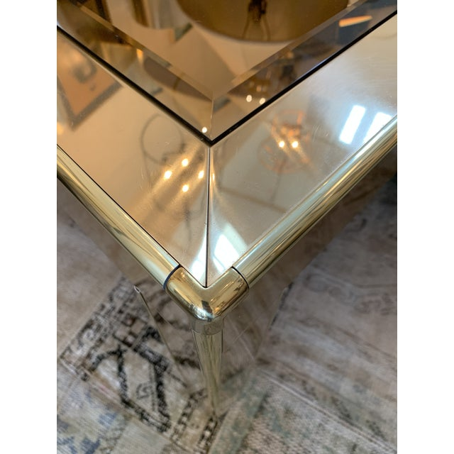 Metal Mastercraft Brass Dining Table For Sale - Image 7 of 8