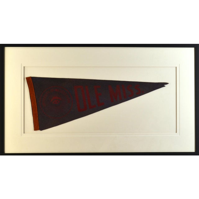 Modern 1950s Americana Ole Miss University Pennant For Sale - Image 3 of 3
