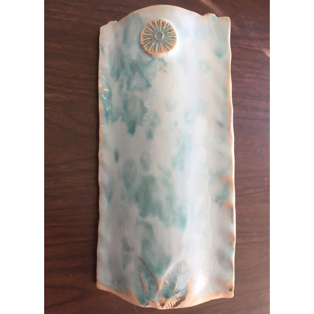 Hand Crafted Ceramic Vase Artist Signed For Sale - Image 9 of 9